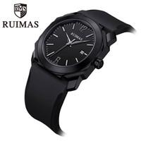 Wholesale waterproof military watches for men for sale - Group buy 2020 Ruimas Men S Quartz Watches Male Clock Men S Military Wrist Watch For Men Luxury Casual Waterproof Gentleman Branded Watch
