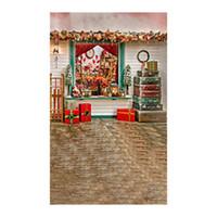 ingrosso lampadari a cristallo del palazzo-Regali di Natale 3x5ft Retro vinile Photo Studio Backdrop Fotografia Puntelli