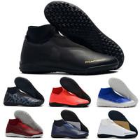 ayak bileği ayakkabıları toptan satış-2019 Yeni Erkek Yüksek Ayak Bileği Futbol Çizmeler EA Spor Phantom Vison Akademisi DF IC TF Futbol Ayakkabıları Superfly Phantom Kapalı Çim Futbol Cleats