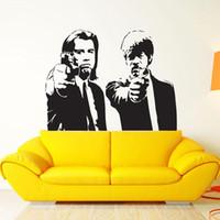 impressão de vinil de parede de vinil venda por atacado-Pulp Fiction Filme Wall Art Decal Adesivo de Decoração Adesivo de Vinil cartaz pulp fiction impressão quentin tarantino samu
