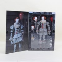 ingrosso bambole di pagliacci-Neca Scarry Movie Stephen King It It Pennywise Joker Clown Action Figure Giocattoli Cosplay Horror Street Freddy Dolls Giorno di Halloween Y190604