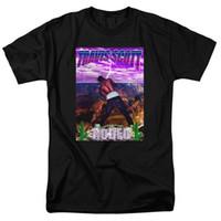gömlekler toptan satış-Moda Tasarımcısı Erkek T Shirt TRAVIS SCOTT ASTROWORLD O-Boyun Kısa Kollu Şekil Baskılı Tees Gençler Yaz Tops Nedensel Erkek Giyim