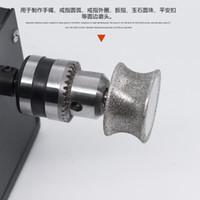 ingrosso giada anelli di diamanti-Emery Pit Wheel Diamond Needle for Jade Agate Stone Ring Bracelet Superficie curva Concave Jade Carving Polishing Tool