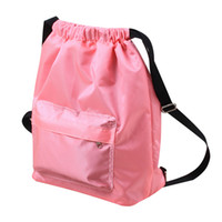 нейлоновые нитки мужчины оптовых-Drawstring Рюкзак String Bag Sackpack Cinch Водостойкий Нейлон для Тренажерного Зала Спорт Йога Сухой Влажный Отдельный Плавательный Мешок Мужчины Женщины Дети