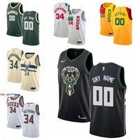 Wholesale women jersey 23 for sale - Group buy Printed Man Kids Woman Bucks Basketball Ersan Ilyasova Jersey Pat Connaughton Sterling Brown Wesley Matthews DJ Wilson Black White