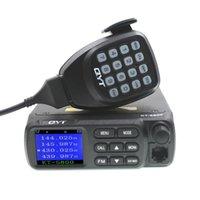 мобильная автомобильная укв оптовых-QYT Двухдиапазонный мобильный приемопередатчик 25 Вт KT-5800 VHF / UHF 10 КМ Мини 2-полосная радиосвязь для легковых и грузовых автомобилей KT5800