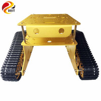 Wholesale parts for electric car online - TD300 Double Crawler Tank Model Chassis Car Model for Arduino Wall e Robot of Gen Guest Contest DIY RC Toy Parts