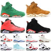 Nike Air Jordan Retro 6 6 s Chaussures de basket ball hautes infrarouge Gatorade Tinker Hatfield Bordeaux Chaussures de sport classiques VI UNC
