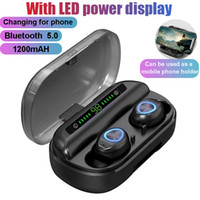 Wholesale displays for cell phones resale online - V10 Wireless Bluetooth Earphone Touch Stereo TWS Headset Bluetooth Digital LED Display with Charger Box for Sports Headphones
