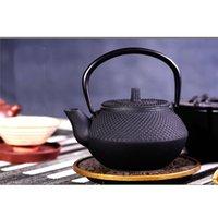 ingrosso set di tè giapponesi-300ml di stile giapponese in ghisa bollitore Teiera Tetsubin Comes With colino Fiore set da tè Puer Bollitore teiera
