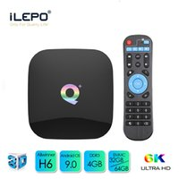 en iyi wifi toptan satış-Q Plus, Android 9.0 TV Box Allwinner H6 Best Buy Smart TV Android Kutusu Desteği Wifi LAN USB 3.0 Media Player