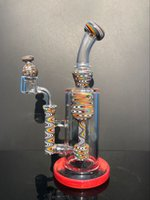 9 .5 inches with colored tree forks and green eyes on the rig bong design and 14mm's small bowl and free shipping