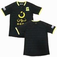 al black achat en gros de-2019 2020 Arabie Saoudite Maillot de foot Al Ittihad noir 19 19 20 maillot de foot S-2XL