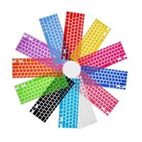 Wholesale silicone keyboard skins resale online - EU layout Spain Spanish Colorful Silicone Keyboard Cover Skin Protection Sticker for quot quot Mac Macbook Air Pro Retina Imac G6