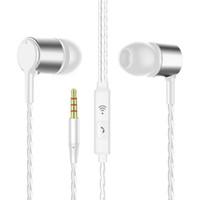 auriculares samsung s6 al por mayor-Auriculares estéreo en la oreja Auriculares Auriculares de 3,5 mm con micrófono para teléfono Samsung S6 s8 android