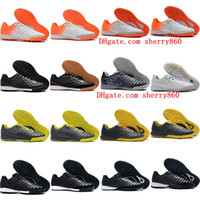 Wholesale silver iv resale online - 2019 new arrival mens soccer shoes TimpoX Finale IC TF soccer cleats Tiempo Ligera IV indoor turf football boots Tacos de futbol