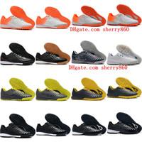 tiempo ayakkabıları toptan satış-2019 yeni varış futbol ayakkabıları TimpoX Finale IC TF futbol mens Tiempo ligera IV kapalı çim futbol ayakkabıları Tacos de futbol pervazları