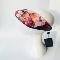 accesorios de enfriamiento al por mayor-Diseñador Summer Cool Real de Seda Cruz Elástica Mujeres Vendas de Lujo Chicas Flores Mejores bandas para el cabello Bufanda Accesorios para el cabello Regalos Headwraps