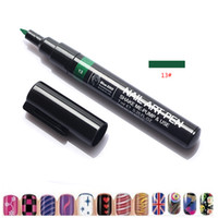 Wholesale paintings fashion nude girls resale online - 16 Colors Fashion Women Girls Nail Art Design D DIY Nail Art Pen Painting Design Tool Drawing For UV Gel Manicure Make Up Tools