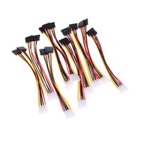 Wholesale ata hard drive resale online - 10pcs Cable Computer Cable Pin IDE Power Splitter Male to Female ATA SATA Power Cable Y Splitter Hard Drive Power Supply