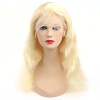 ingrosso biondo fronte vergine di merletti dei capelli-613 Blonde Body Wave piena del merletto parrucche Virgin brasiliano dei capelli umani 13 * 4 merletto della parte anteriore parrucche 150% Densità Blonde di miele di grado 9A