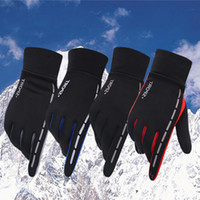 Wholesale warm mens gloves resale online - Fashion Classic Design Mens Winter Outdoor Sports Driving Keep Warm Gloves Cool Screen Touch Five Fingers Gloves