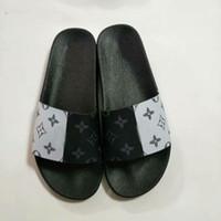 zapatillas personalizadas al por mayor-Sandalias de diseño con caja naranja, estampado personalizado Hombres, mujeres Sandalias de lujo Estampado de diseñador, Piel de cuero suave, hombres, mujeres, zapatillas, talla 36-46