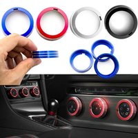 Wholesale volkswagen car parts for sale - Group buy 5colors Car styling For Volkswagen VW Tiguan L conditioning knob decoration ring aluminum decorative cover car Auto parts GGA992