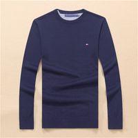 suéter de cuello alto de los hombres al por mayor-Nuevo jersey de alta calidad, color sólido, suéter de marca casual para hombre, suéter delgado, cuello de caballero, tendencia de moda con todo