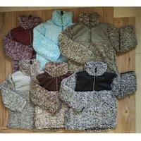 camisolas dos meninos de harmonização venda por atacado-Meninos Meninas Berber Fleece Pullover Jacket Sherpa Jacket Crianças Hoodies Moletom Camisola Polar Patchwork Jogo de Cores Outwear Tops Pano C91109