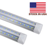 ledli t8 lamba toptan satış-V-Shaped Integrate T8 LED shop Tube lights 2400MM 2ft 4ft 8ft LED Fluorescent Lamp LED Light Tubes Cooler Door Lighting