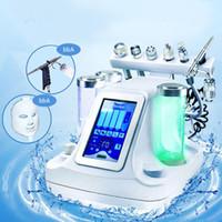 ingrosso cura della macchina dell'ossigeno-La migliore macchina di pulizia facciale di pulizia di vendita dell'ossigeno di bellezza del getto d'acqua del poro pulisce il dispositivo di massaggio facciale l'attrezzo di cura di pelle aggiunge la maschera del LED 7Color