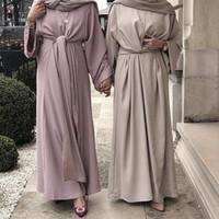 roupas jilbab venda por atacado-Bandagem Kaftan Abaya Peru Muçulmano Vestido Hijab Árabe Jilbab Caftan Elbise Vestuário Islâmico Abayas Para As Mulheres Ramadan Robe Dubai