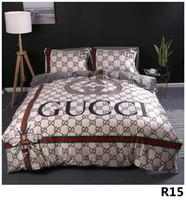 queen quilts großhandel-Königin Bettdecken Sets Designer Bettwäsche-Sets Bettbezug 4 Stück Anzug Explosion Modelle dicken Kristall JM03 Digitaldruck Bett 2.0M15A