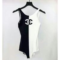 ingrosso collo bikini-Bikini sexy da spiaggia per donna Costume stampato costume intero vita alta costume da bagno con scollo a V Swimwear