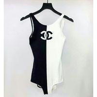 v boyun mayo toptan satış-Kadınlar Moda Baskılı Tek Parça Mayo Yüksek Bel Parti Mayo V Yaka Mayo için Seksi Plaj Bikini