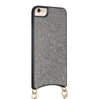 cuerda colgante para iphone al por mayor-Silicon Bling Glitter lentejuelas de cristal cubierta de TPU suave cuello colgando cuerda caja del teléfono del diamante universal para iPhone 8 7 6S