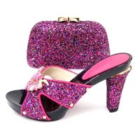 592009e2b221 Wholesale hot pink rhinestone pumps for sale - Hot sale fuchsia women pumps  and bag with