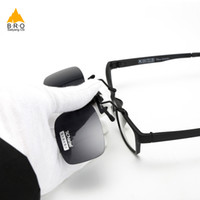 Wholesale cycling clips resale online - Cycling Bicycle glasses Clip On Sunglasses Polarized HD Sun Glasses Driver Night Vision Lenses Anti UVA Shades Women Men