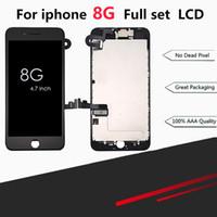4.7 lcd-bildschirm großhandel-Für iPhone 8 4,7 Zoll Vollbild-Ersatz-LCD-Baugruppe Frontkamera-Ohr-Lautsprecher-Abschirmplatte mit Rahmenkleber