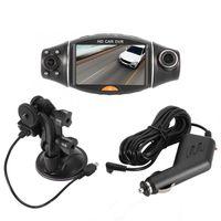 камера ночного видения для вождения автомобиля оптовых-Автомобильная видеорегистратор R310 HD Автомобильный видеорегистратор с двумя объективами 140 широкоугольный ночного видения G-Sensor Driving Video Recorder Новые поступления