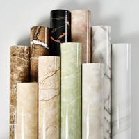 водонепроницаемые обои оптовых-Modern 3D Marble Texture PVC Wallpaper Living Room Bedroom Bathroom Self-Adhesive Waterproof Wall Paper For Walls 3 D Home Decor