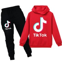 Wholesale boys winter tracksuit for sale - Group buy Kids Tracksuit Boys Casual Clothes Pieces Set Pants Costume Print Tik Tok Sport Suit For Girl Teen Long Sleeve Sweatshirt Hoodies Pant