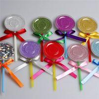 Wholesale boxes lashes resale online - 3D Mink Eyelashes Box Lollipop Eyelashes Package False Eyelash Case Mink Lashes Storage Box Creative Round Lash Boxes Makeup Tool
