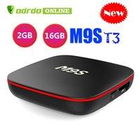 4k ultra hd tv großhandel-M9S T3 Allwinner H3 2 GB 16 GB Android 7.1 TV BOX Quad Core Ultra HD H.265 4K Stream Media Player Besseres Amlogic S905W MXQ PRO RK3328 T95Q