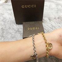 дизайнерские браслеты для женщин оптовых-Европейский дизайнер s мода роскошные S Шарм браслеты gucci мужские и женские любителей браслет-цепочка с коробкой подарок