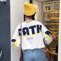 neue punkkleidung großhandel-Mode neue Frauen Shirts Kawaii japanische ästhetische Frauen Langarm Tops koreanische Kleidung Punk der 90er Jahre Frauen T-Shirt