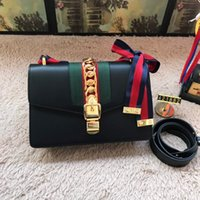 ingrosso borsa di blocco nero-Luxury Brand Famous Designers Flap Donna Catena tracolla Swallow Lock Messenger Crossbody Borse borsa e borsa rosso nero Totes