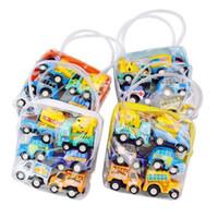 mini autobuses al por mayor-Tire hacia atrás los juguetes para el auto Los niños del auto de carreras Coche para bebés Mini carros de dibujos animados Tire hacia atrás del camión camión Niños Juguetes para niños Regalos para niños