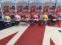 pcs bestellt großhandel-6 Stück / Set Nett Mini FGO Fate / Groß bestellen Anime Action-Figuren Puppen 5cm PVC-Tätigkeits-Abbildung Sammlung Spielzeug für Telefonzubehör L391